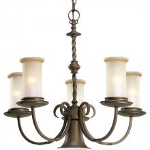 Progress P4587-102 - Five Light Roasted Java Jasmine Mist Glass Up Chandelier