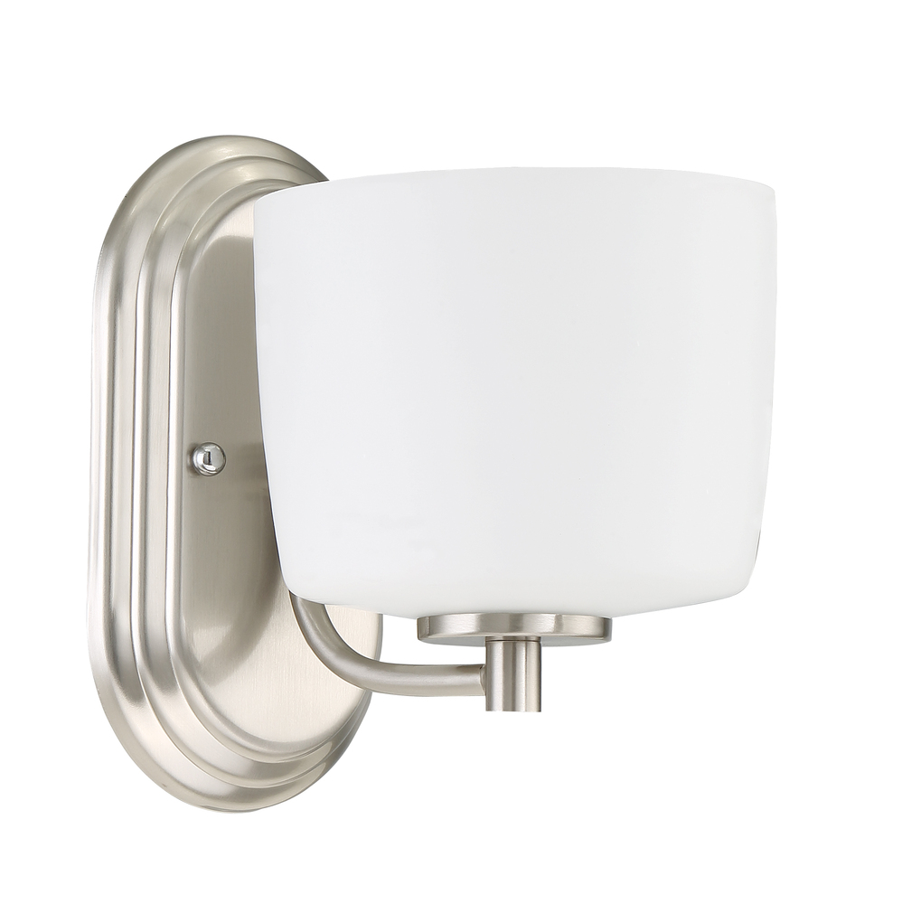Illuminations RGV in McAllen, Texas, United States,  W8RT, Clarendon 1 Light Vanity/Wall Sconce in Brushed Polished Nickel, Clarendon