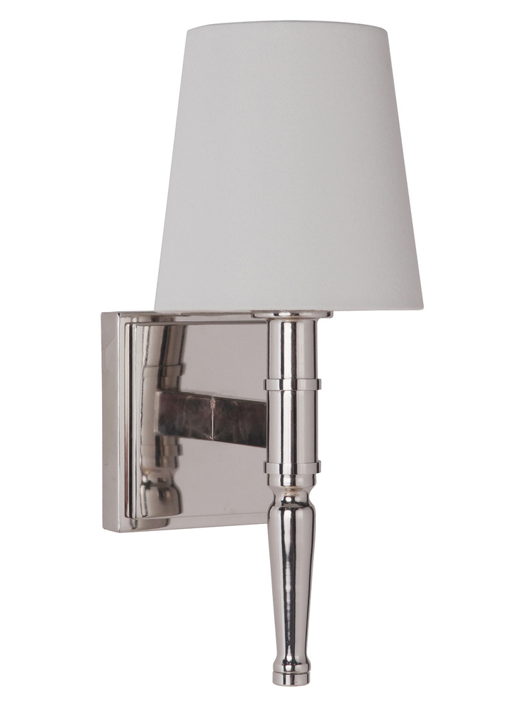 Illuminations RGV in McAllen, Texas, United States,  W8UK, Ella 1 Light Vanity/Wall Sconce in Polished Nickel, Ella