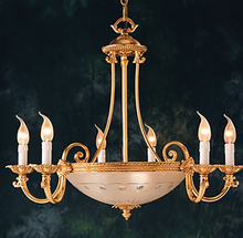 Crystorama 9006-OB - Crystorama 9 Light Olde Brass Chandelier