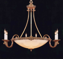 Crystorama 9106-OB - Crystorama 9 Light Olde Brass Chandelier
